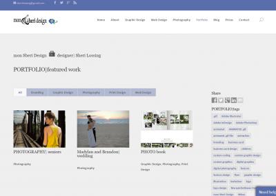 Responsive WordPress WEBSITE design - Grand Rapids MI-SCREENSHOT| portfolio page - WordPress blog website design