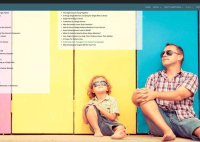 Responsive WordPress WEBSITE design - Grand Rapids MI-A Fathers Walk | ARTICLES - WordPress blog website design
