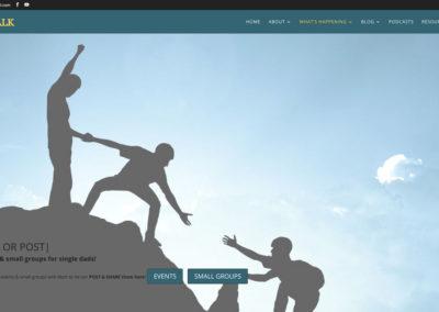 Responsive WordPress WEBSITE design - Grand Rapids MI-A Fathers Walk | EVENTS - WordPress blog website design