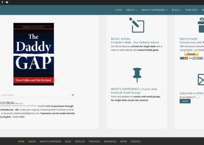 Responsive WordPress WEBSITE design - Grand Rapids MI-A Fathers Walk | BOOK - WordPress blog website design