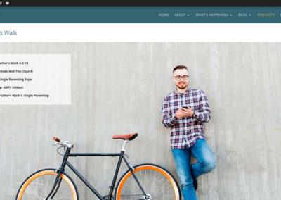 Responsive WordPress WEBSITE design - Grand Rapids MI-A Fathers Walk | PODCASTS - WordPress blog website design