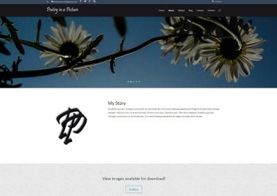 SCREENSHOT| about page - WordPress blog website design