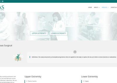 Responsive WordPress WEBSITE design - Grand Rapids MI-SCREENSHOT| prosthetics page