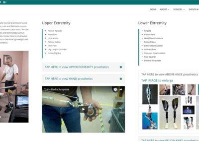 Responsive WordPress WEBSITE design - Grand Rapids MI-SCREENSHOT| prosthetics page 2