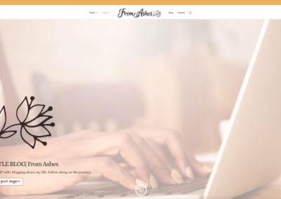 FromAshes.com - BLOG - WordPress blog website design