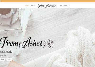FromAshes.com - HOME - WordPress blog website design