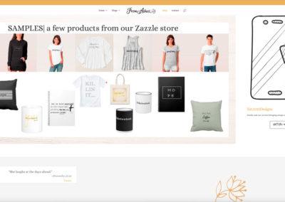 FromAshes.com - E-STORE - WordPress blog website design