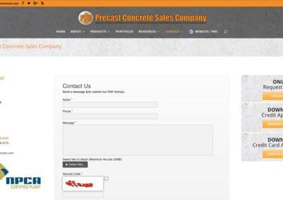 Responsive WordPress WEBSITE design - Grand Rapids MI=Precast Concrete Sales | CONTACT