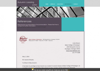 website: portfolio (wix.com) |REFERENCES