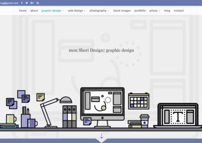 Responsive WordPress WEBSITE design - Grand Rapids MI-SCREENSHOT| graphic design page - WordPress blog website design