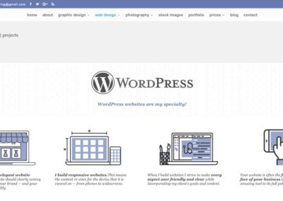 Responsive WordPress WEBSITE design - Grand Rapids MI-SCREENSHOT| WordPress websites page - WordPress blog website design