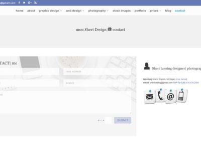 Responsive WordPress WEBSITE design - Grand Rapids MI-SCREENSHOT| contact page - FORMS|mon Sheri Design - WordPress blog website design