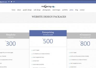 Responsive WordPress WEBSITE design - Grand Rapids MI-SCREENSHOT| prices page