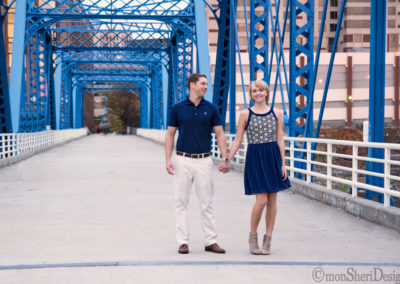 Downtown Grand Rapids -- Blue Bridge and surrounding riverfront area {Grand River}