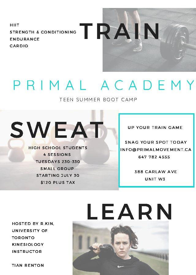 Train. Sweat. Learn.