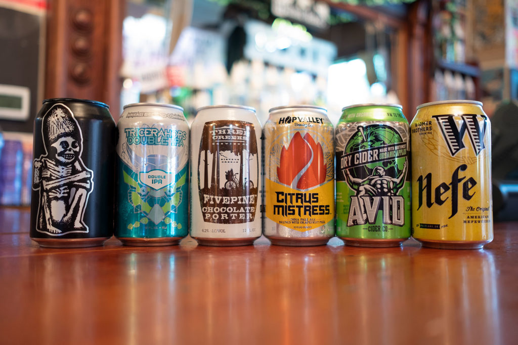 Beer Can Lineup