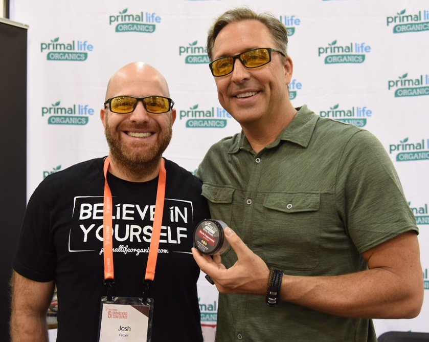 Josh and Dave Asprey at Bulletproof Biohacking Conference