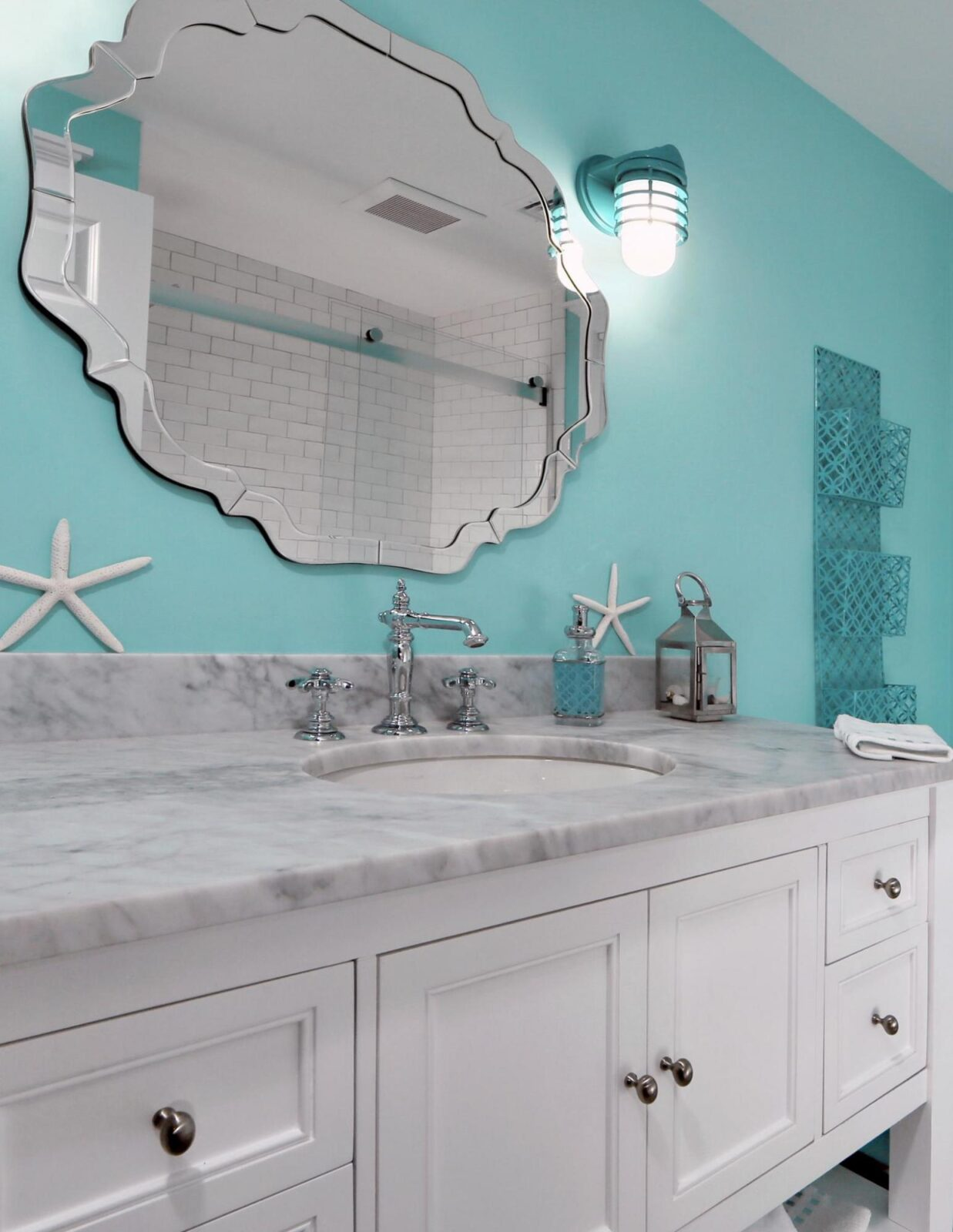 Torquiose Bathroom and Sink