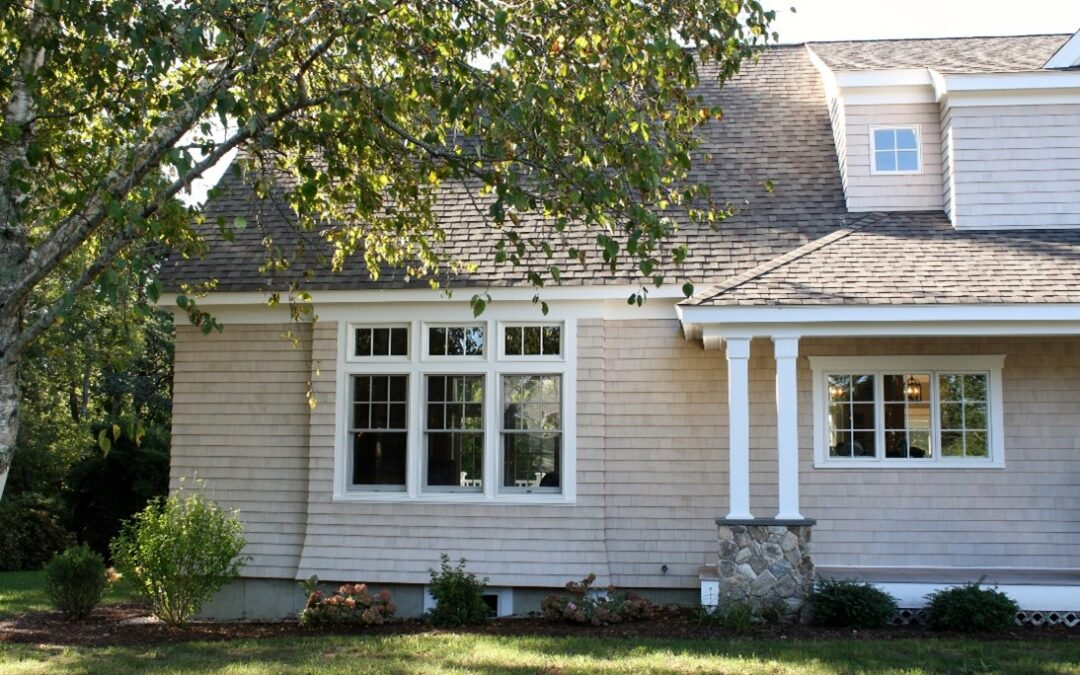 What Does A Cape Cod House Look Like Today? Sidewall Flare Pattern (Not Your Traditional Siding!)