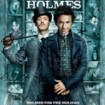 Movie ad for Sherlock Holmes with his picture and Watson, his side-kick