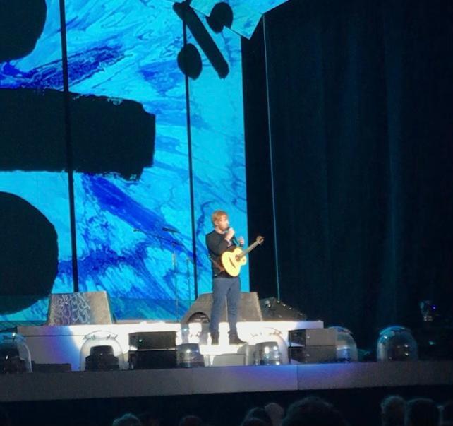 Ed Sheeran in concert in San Francisco