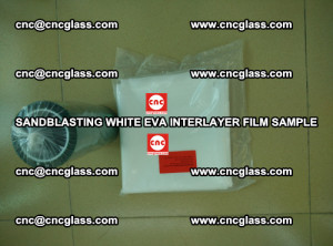 Sandblasting White EVA INTERLAYER FILM sample, EVAVISION (62)