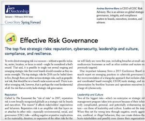 Effective Risk Governance - NACD