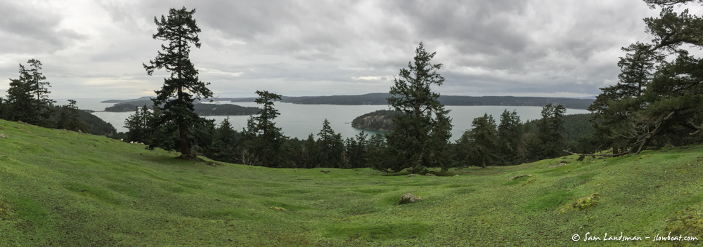 View from the top of Decatur Island