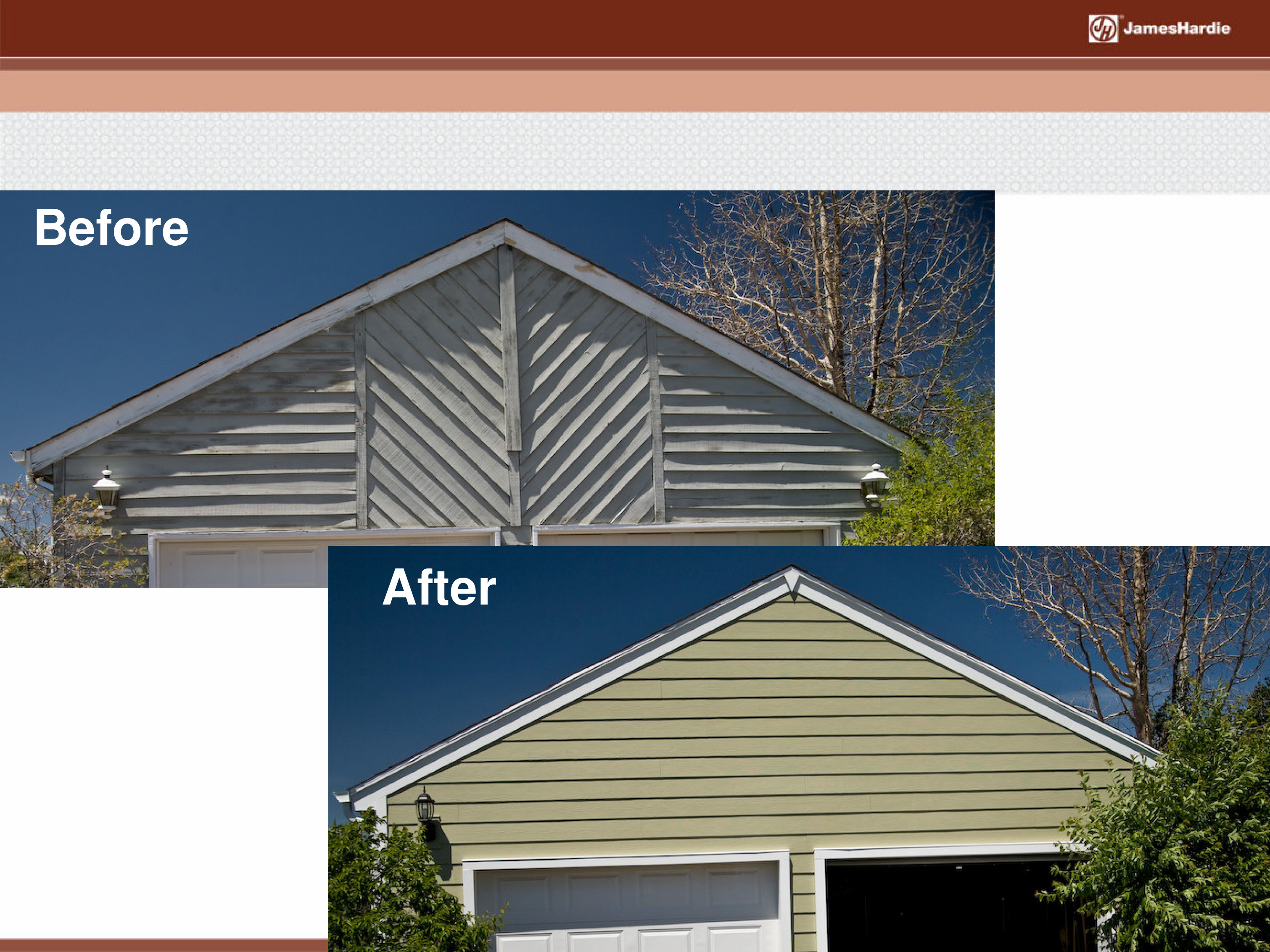 Before and After James Hardie Siding 2