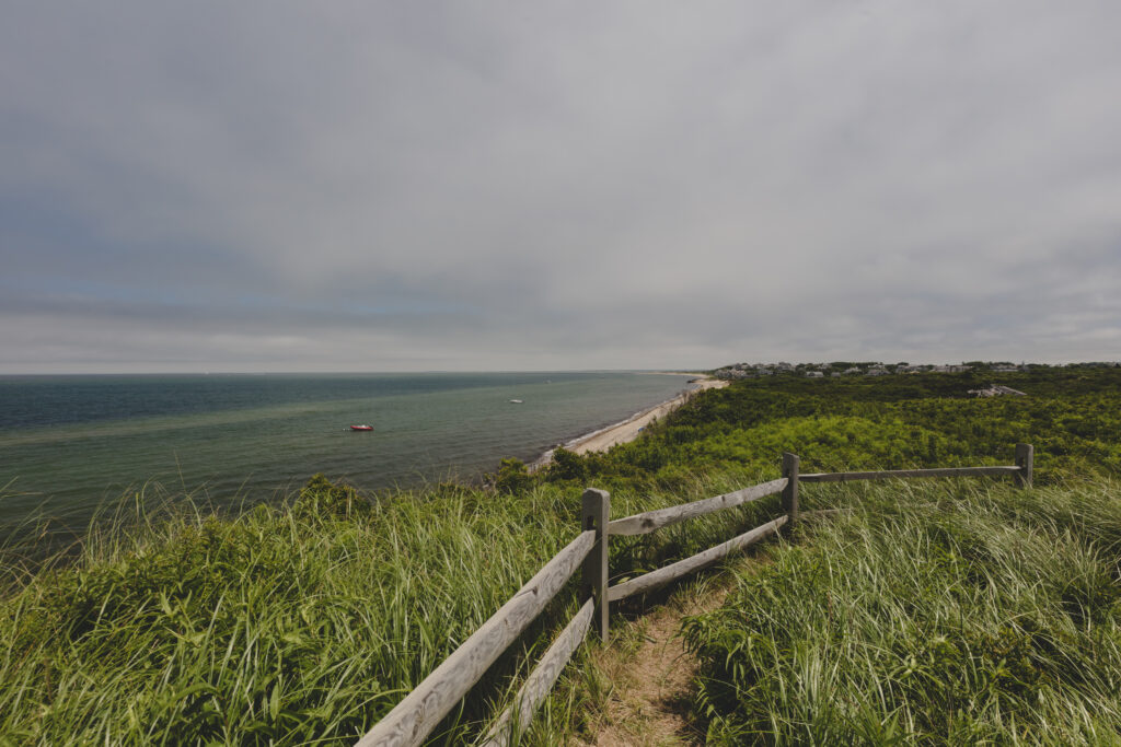 The Northwest coast of Nantucket Island on a gray day.