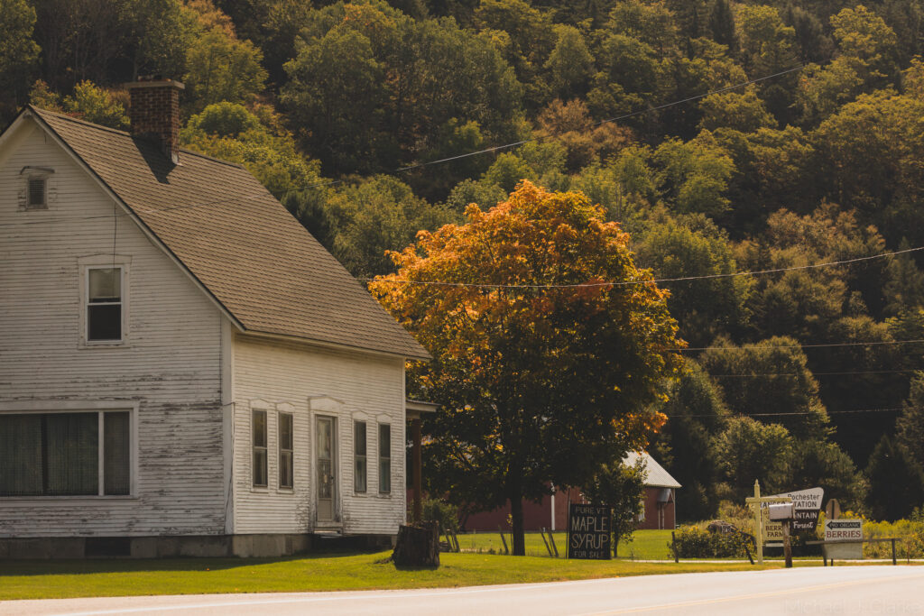 An old house along Route 100 in Vermont.