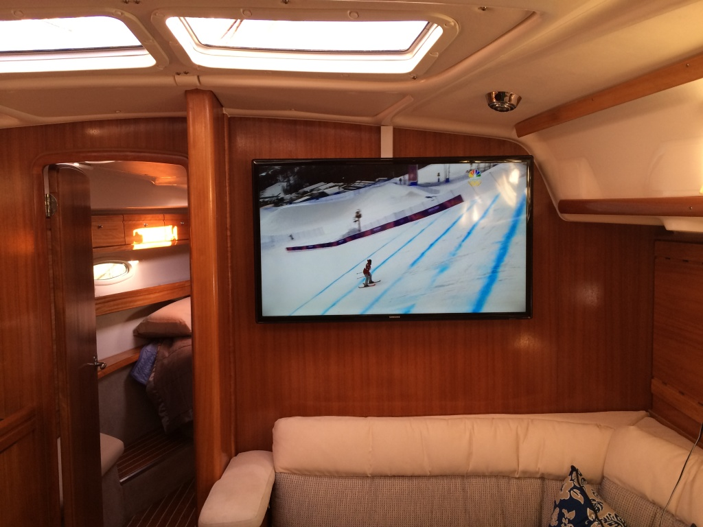 TV on a boat