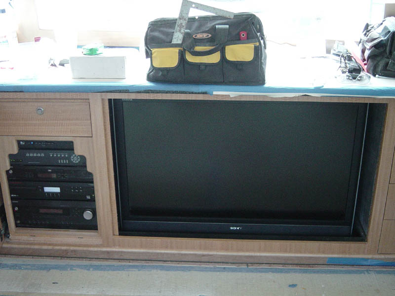 TV on a yacht installation