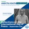 REFLECTIONS ON THE INTERNATIONAL DAY OF PEACE