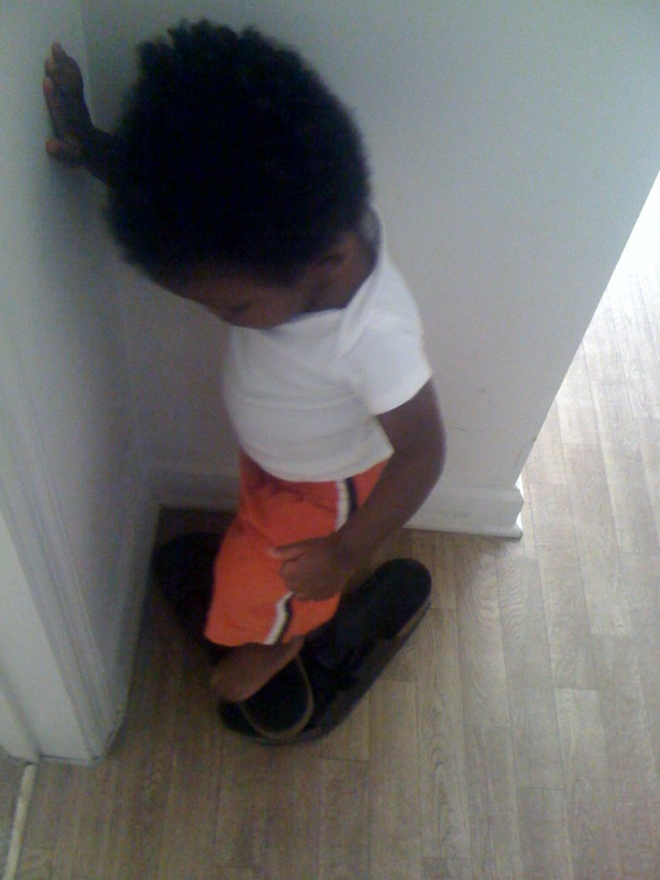 Daddy's shoes, A.J., Mommy Talk Show