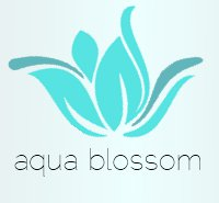 Aqua Blossom logo, Aqua Blossom all-natural, Aqua Blossom Etsy store