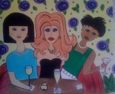 Girls Night Out, Painting Party, Artzy Party, Angie Wehunt, Atlanta Art Painting Party