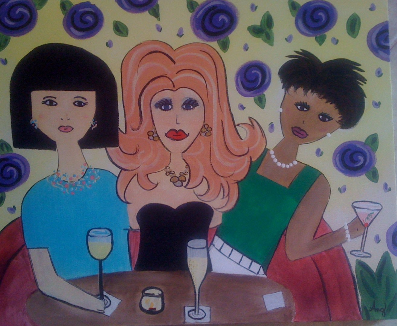 Girls Night Out, Painting Party, Artzy Party, Angie Wehunt