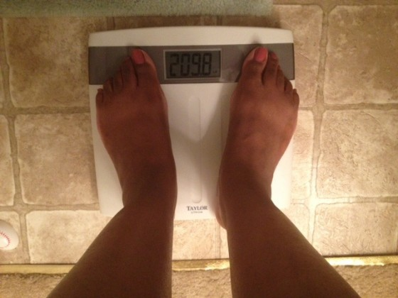 weight check-in, Fitness Friday, Joyce Brewer, how much do I weigh?