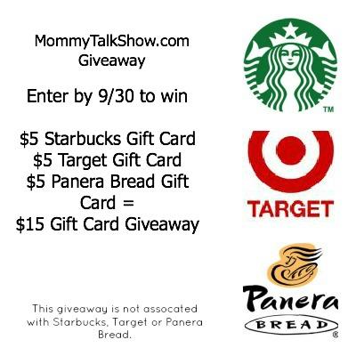 Mommy Talk Show, Mom Blog Giveaways, Atlanta giveaways, Target Gift Card Giveaways, Starbucks Gift Card Giveaways, Panera Bread Gift Card Giveaways