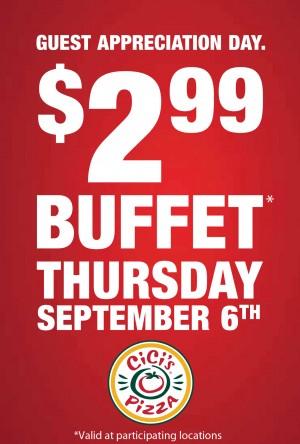 cici's pizza buffet, cici's pizza national guest appreciation, cici's discount, cici's promotion, Atlanta cici's pizza