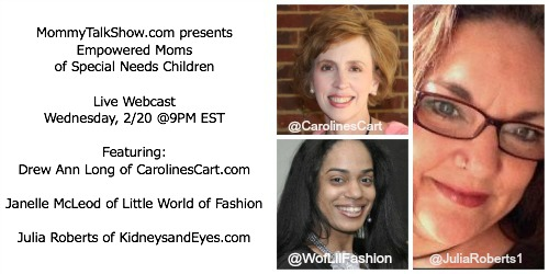 special needs kids, caroline's cart, kidneys and eyes, world of little fashion, fashion for little people