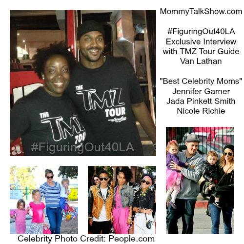 VIDEO - TMZ Tour Guide Van Lathan: Best Celebrity Moms #FiguringOut40LA
