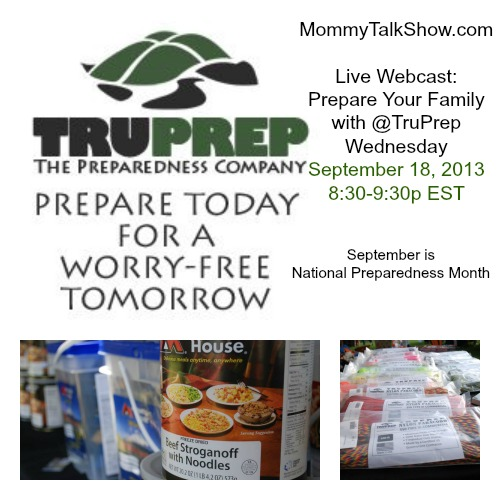 Live Webcast: Prepare Your Family with TruPrep 9/18 at 8:30p EST