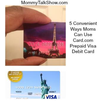 5 Convenient Ways Moms Can Use Card.com Prepaid Visa Debit Card ~ MommyTalkShow.com