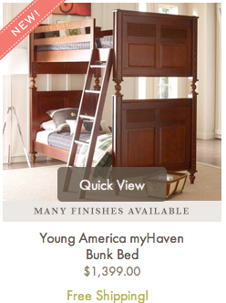 Young America Bunk Bed ~ MommyTalkShow.com