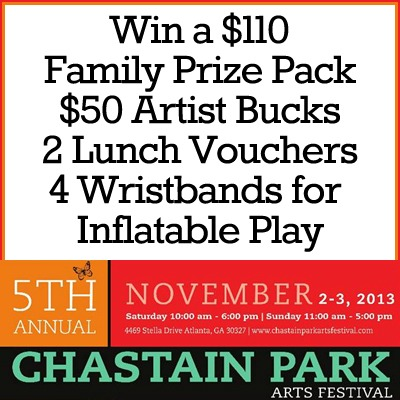 2013 Chastain Arts Festival Prize Pack Giveaway