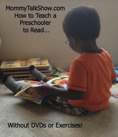 How to teach a preschooler to read ~ MommyTalkShow.com