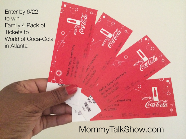 Explore the World of Coca-Cola this Summer with a Family Four Pack Ticket Giveaway ~ MommyTalkShow.com