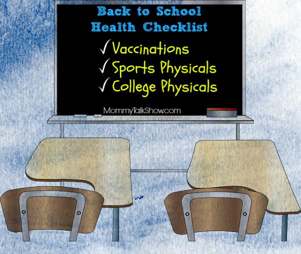 Back to School Health Checklist ~ MommyTalkShow.com